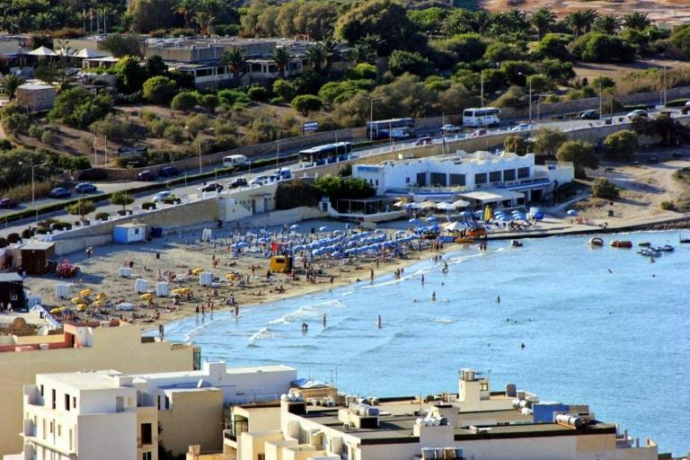 Plaża w Mellieha na Malcie