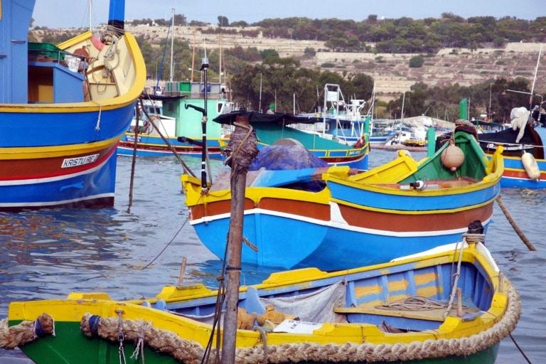 Luzzu w Marsaxlokk