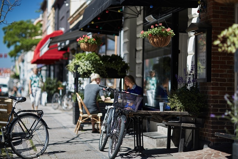 aarhus,rower,kawiarnia